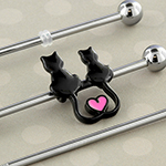 Kitty love industrial barbell set