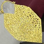Brass glam hoops