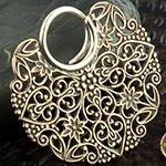 Brass large filigree blade hoops