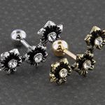 Triple flower barbell