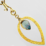 Solid brass with fluorite teardrop weights