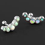 Crescent opal barbell