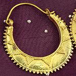 Brass beaded sunray hoops