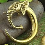 Brass elephant weights