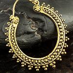 Brass beaded cluster earrings