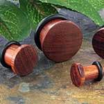 Single flare bloodwood plugs