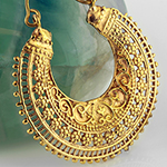 Brass embellished floral hoops