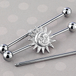 Moon and sun industrial barbell set