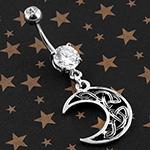 Celtic moon navel