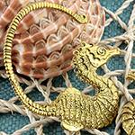 Brass seahorse weights
