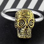 Sugar skull captive ring