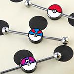 Pokemon ball industrial barbell