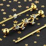 Gem constellation industrial barbell set
