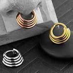 Titanium quadruplet septum clicker ring