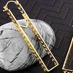 Marquesan rectangle earrings