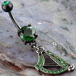 Celtic harp dangle navel