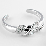 Silver gemmed toe ring