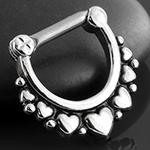 Heart septum clicker ring
