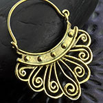 Brass vintage filligree earrings