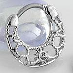 Gemmed ornate sun clicker ring