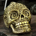 Brass sugar skull weights
