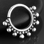 Silver bubble septum ring