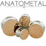 PRE-ORDER steel eyelet with copper hammered fronts