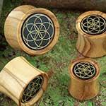 Olivewood seed of life plug