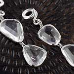 Silver and free form quartz weights