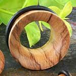 Single flare olivewood eyelet