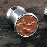 Hammered copper steel plugs