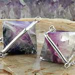 Sterling silver and fluorite dangles