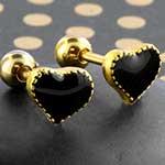 Black heart barbell