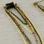 Katalox wood Ravens Spell plugs with beaded chains