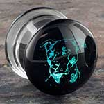 Pyrex glass pit bull foil plugs