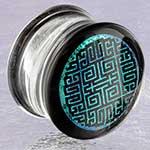 Pyrex glass geometric maze plugs