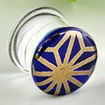Pyrex glass colorfront plugs (Japanese star on blue)