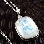 Moonstone and silver necklace