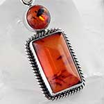 Baltic amber and silver necklace