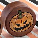 Swiss pear wood Jack-o-lantern plugs