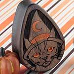 Blue mahoe witchy cat teardrop plugs