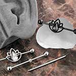 Lotus gem industrial barbell set