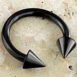 Black-coat circular barbell with cones