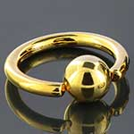 Gold plated captive