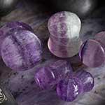 Fluorite stone plugs