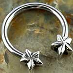 Steel circular barbell with nautical stars