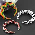 Swirly glass pinchers