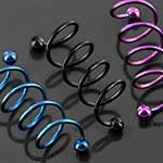 Color-coated twist barbell (4 spirals)