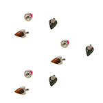 PRE-ORDER Steel prong set opal/stone bullet threaded end