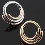 14k two gold three ring circus clicker
